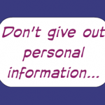 Cách ứng xử với thông tin cá nhân
