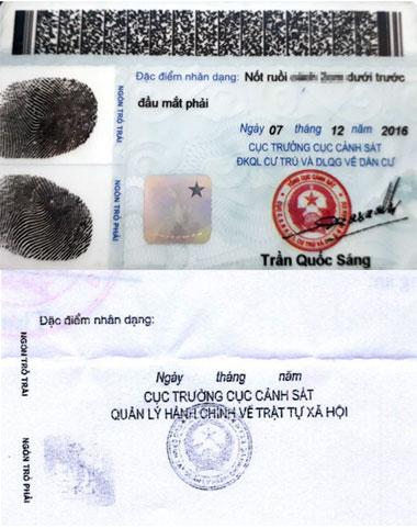 Mặt sau của mẫu thẻ cũ và mẫu thẻ mớ.